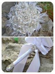 how to make a brooch bouquet with feathers - Google Search