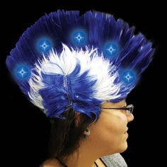 661dcb183d5c6 Go wild with your American patriotism in this LED mohawk wig! Our red