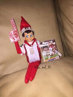 My elf on the shelf is cooler than yours. #GoNoles #elfontheshelf #FSU #Seminoles