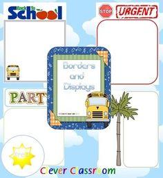 FREE Blank Borders and Displays Classroom Organization Resource