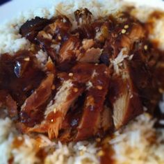 Slow Cooker Garlic and Brown Sugar Chicken....decrease the amount of time in the crockpot to NO MORE THAN 3 HOURS on LOW...6-8hrs on low is TOO LONG!