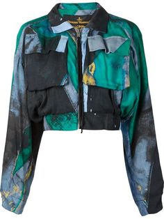 Shop Vivienne Westwood Anglomania  'Game' cropped bomber jacket  in Anastasia Boutique from the world's best independent boutiques at farfetch.com. Shop 300 boutiques at one address.