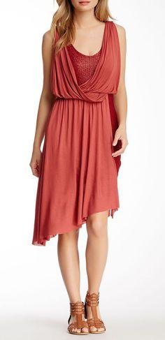 Free People Elenor Draped Contrast Dress