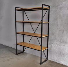 estanteria industrial / hierro y madera / diseño / deco