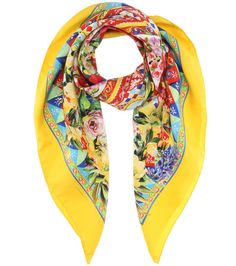 floral scarf - Yellow & Orange Dolce & Gabbana