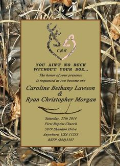 free printable camouflage wedding invitations - Google Search