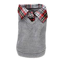 Dog Shirt / T-Shirt Sweater Gray Dog Clothes Winter Spring/Fall Britsh Fashion Casual/Daily