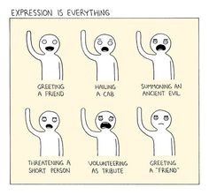 Expression is everything. I freakin love that they put volunteering as tribute in there. XD