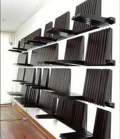 Flipping Wall Shelves