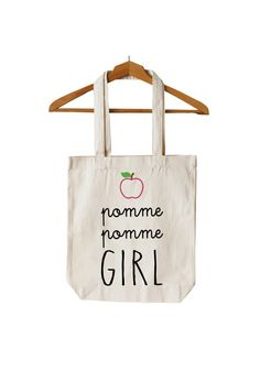 """Tote Bag """"Pomme Girl"""""""