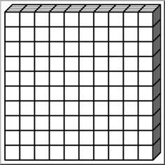 clip art place value blocks b w 0010 math illustration o rh pinterest se Base Ten Blocks Rods Base Ten Blocks Rods