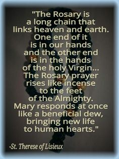 st therese of the rosary quote Catholic Beliefs, Catholic Quotes, Catholic Prayers, Religious Quotes, Rosary Quotes, Spiritual Sayings, Christianity, Rosary Prayer, Praying The Rosary
