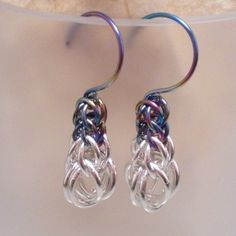 Graduated Full Persian Earrings in Sterling Silver and Niobium | daisykreates ArtFire Gallery