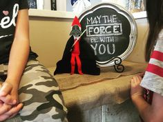 Elf on the Shelf Star Wars. May the force be with you  #starwars #elfontheshelf #theforceawakens #darthvader #momlife