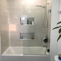 A Glass Warehouse frameless shower door can instantly make your bathroom look bigger and brighter, adding a fresh and modern feel yet having the versatility to complement any bathroom style. Bathroom Interior, Modern Bathroom, Bathroom Ideas, Gold Bathroom, Bathroom Inspiration, Bath Tub Tile Ideas, Small Bathroom With Tub, Bathroom Fixtures, Bathroom Organization