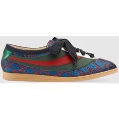 Gucci Falacer Lurex Gg Sneaker With Web (560 CHF) ❤ liked on Polyvore featuring shoes, sneakers, metallic sneakers, metallic silver sneakers, gucci, silver metallic shoes and gucci footwear