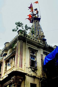 El templo de la diosa Mumba Mumbai después de que se nombra