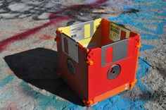 Little Fire Box Floppy Disk Pencil Holder for the Eco-Chic Nerd or Geek. $7.00, via Etsy.