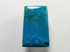 Rare Gem Chrysocolla with Saginite crystals from the Ray Mine in Arizona, Designer Cabochon (gc001)