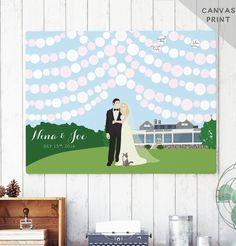 Canvas Wedding Guest Book Alternative  by MissDesignBerryInc