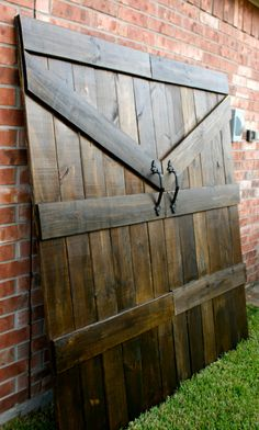 Handmade Barn Door Headboard by MaddensCloset on Etsy