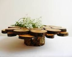 Small wood slices attached for individual cupcake stands