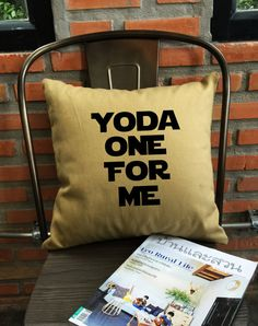 SALE Star Wars Pillow Cover Yoda One For Me by Lessssismoreee