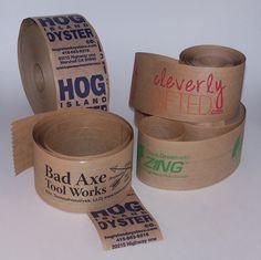Globe Guard custom printed paper tape samples