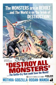 Destroy All Monsters (1968) Directed by Ishiro Honda