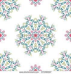 Vintage seamless patterns - stock photo