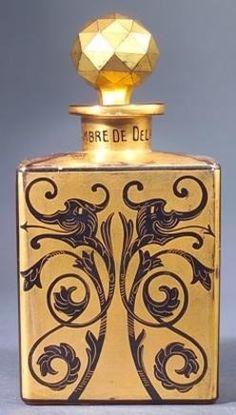 """Ambre de Delhi,"" Depinoix perfume bottle for Babani, circa 1920 Visit prices4antiques.com"