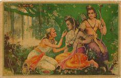 Heritage of India: Shabari Offering Fruits to Rama vintage postcard