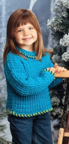 W230 Crochet PATTERN ONLY Child's Playful Sweater Pattern