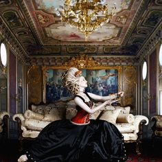 """The Regal Twelve – Marie Antoinette – """"The Extravagant Queen"""" (1755-1793) ~ """"Alexia Sinclair's The Regal Twelve is a series that combines hundreds of photographic elements and illustrations to form complex digitally montaged artworks. The series portrays twelve European monarchs who have ruled supreme."""""""