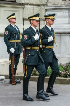 Uniform with tall boots