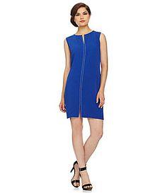 Calvin Klein Nailhead Front Sheath Dress - Dillard's