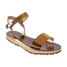 Lanvin Metallic Sandal at Barneys.com