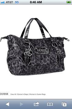 Cheetah print Guess bag