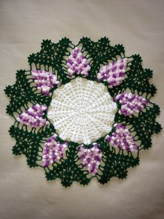 Wild Grapes Doily