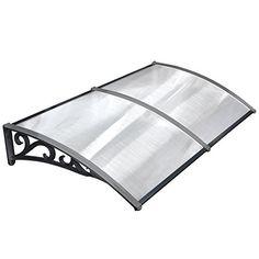 MVPOWER Toldo para Puertas y Ventanas en Jardín al Aire Libre Dosel de Techo Marquesina Protección del Sol y Liuvia (Color Negro, 120*75cm): Amazon.es: Hogar