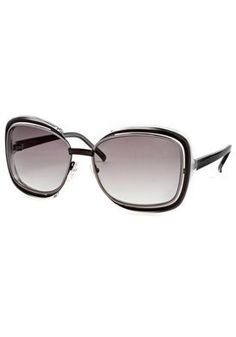 Fashion Sunglasses: Ruthenium-Dark Ruthenium-Gray-White Crystal/Gray Gradient Valentino. $149.99