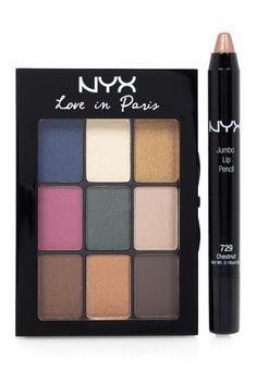 Love In Paris Eyeshadow Palette and Jumbo Pencil Set by NYX on @HauteLook