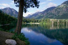 Wallowa Lake  Wallowa Lake State Park  Oregon  USA