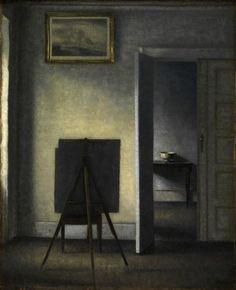 Vilhelm Hammershoi, The Artist's Easel, 1910