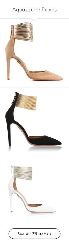 """""""Aquazzura: Pumps"""" by livnd ❤ liked on Polyvore featuring Pumps, aquazurra, livndshoes, livndaquazurra, shoes, pumps, heels, metallic leather shoes, leather pumps and nude heel shoes"""