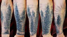 In tattoo art, there is always designs that are trendy at a moment or another, and right now, for male, it is tree tattoos, especially blackwork forest around the wrist. Description from tattooartistlondon.tumblr.com. I searched for this on bing.com/images