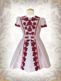 A personal favorite from my Etsy shop https://www.etsy.com/listing/258250395/girls-valentines-day-dress-girls-red