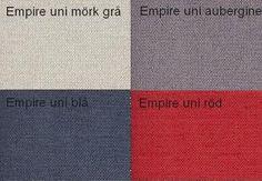 Empire Uni Mörk Grå / Empire Uni Aubergine / Empire Uni Blå / Empire Uni Röd Från Hovden Emprire Uni Dark Grey / Empire Uni Eggplant / Empire Uni Blue / Empire Uni Red From Hovden