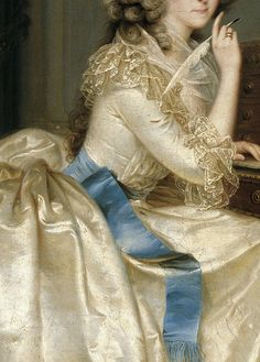 """Portrait of the Princess of Lamballe"" (1788) (detail) by Karl Anton Hickel (1745-1798)."