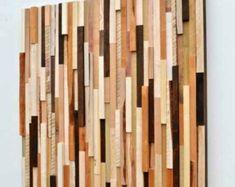 Wood Wall Art - Rustic Wood Wall Art - Wood Sculpture - Wall Installation 29x29